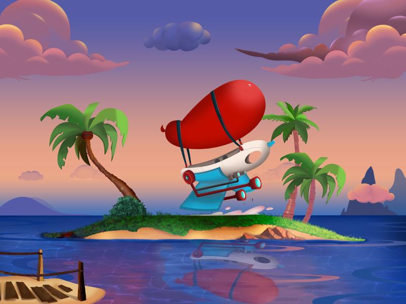 Chip 'n Dale Concept Art design game art environment game illustration art digital drawing cartoon