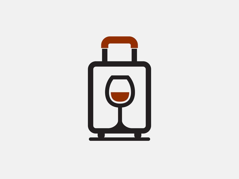 Wine Trolley wine glass travel trolley wine logo