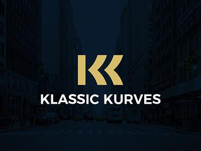 Klassic Kurves monogram logo luxurious elegant classic kk double-k