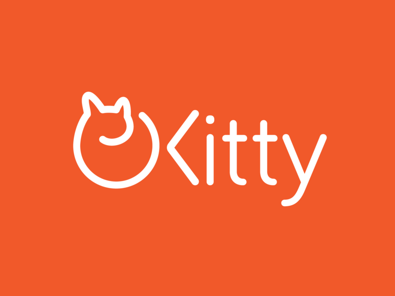 Kitty animal cute branding cat logo kitten kitty