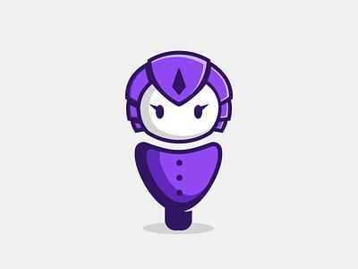 Girl Bot bot robot mascot character character mascot