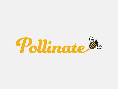 Pollinate polen logo-design animal logo bee