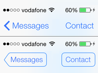 Classic button shape in iOS 7