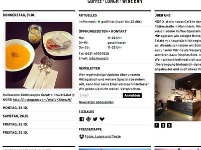 NORD Website V2 nord website webdesign hfj gotham typography