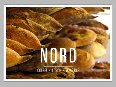 NORD info card for bread bread yellow nord postcard info