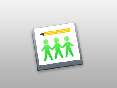 SubEthaEdit – New Icon (Draft 1) subethaedit osx icon green unsolicited pencil person sketchapp