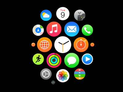 Apple Watch Homescreen Icons (Vector) illustrator apple watch icon homescreen app vector ai apple watch