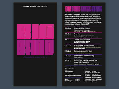 Big Band Chamber Concerts Flyer band typography type logo gotham fit concert big