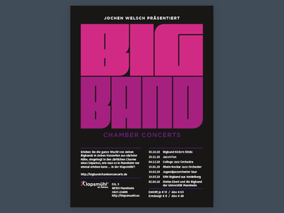 Big Band Chamber Concerts Poster poster band typography type logo gotham fit concert big