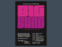 Big Band Chamber Concerts Poster