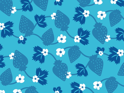 Strawberry illustration pattern strawberry summer