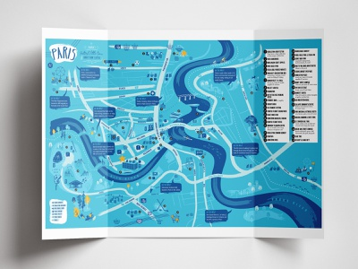Paris tourism map tourism illustration map
