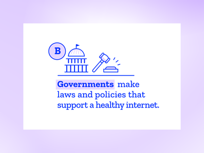 Mozilla Fellowships & Awards detail internet gavel policy capitol government illustration