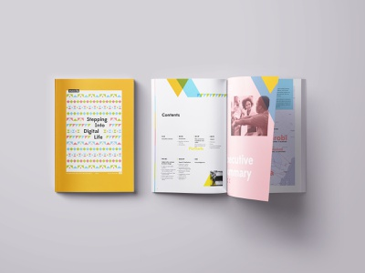 Mozilla research report research geometric color report book design print