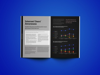 Mozilla's Internet Issues Awareness Report layout print book design