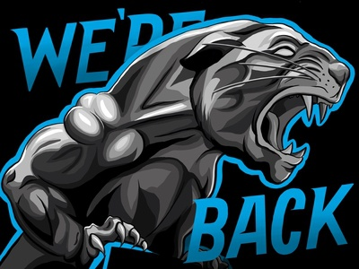 Panther Illustration for the start of Football Season