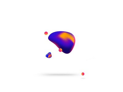 Floating  concept colors clean minimalism abstract ilustration float