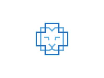 HVVC — Veterinary Hospital minimal cross hospital veterinary animal logo symbol identity branding