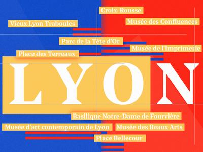 Living — Lyon  typography red blue living interest france illustration lyon