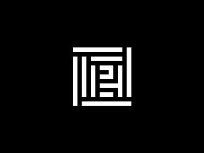 Hotel Pérola — Monogram square minimal grid africa pattern symbol monogram pérola hotel