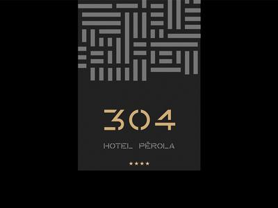 Hotel Pérola — Room Card room card modular square minimal grid africa pattern symbol monogram pérola hotel