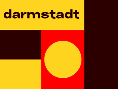 Darmstadt germany clean geometric type brutalism minimal grid visual darmstadt