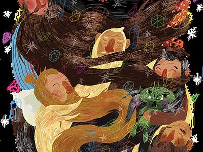 Dwarvish Nap-Time hobbit dwarves illustration design t-shirt tshirt dwarf art
