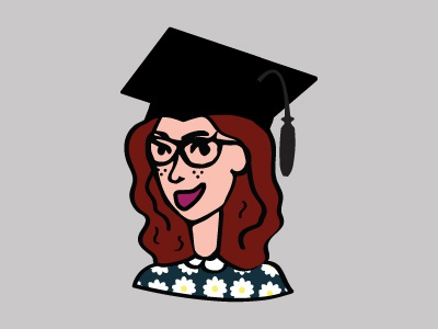 I'm graduating! graphic design illustration