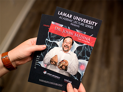 Academic Lecture Series print intern work