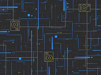 Data Streams machine learning styleframe illustration ai elements