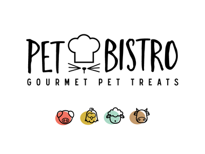 Pet Bistro Logo simple pet treats design branding logo