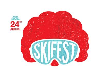 Skifest Logo (Ronald McDonald House) event charity simple illustration logo design branding