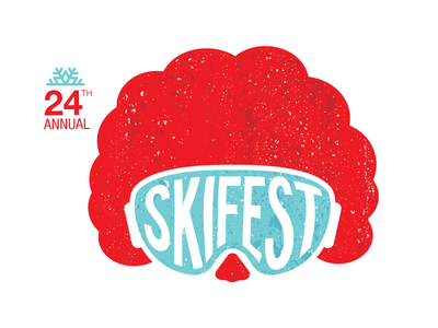 Skifest Logo (Ronald McDonald House) event charity simple illustration logo design branding