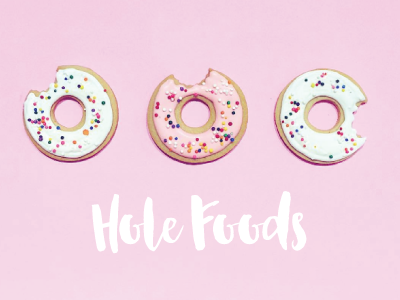 Hole Foods cookie pink donut pastel food photography