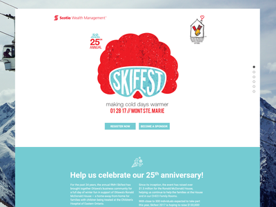 RMH Skifest Website responsive modern illustration branding bright webdesign vector flat design uidesign ui