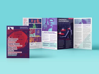 NAC Presents - 2016/17 Season Brochue typography gradient filter music print brochure design