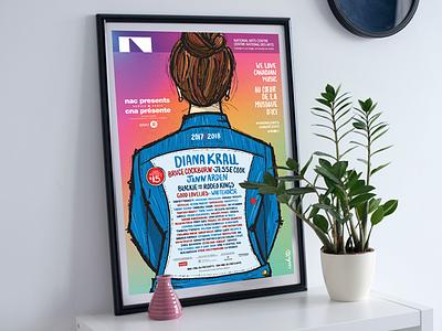 NAC Presents 17/18 Season colours marketing graphicdesign typography posterdesign poster illustration