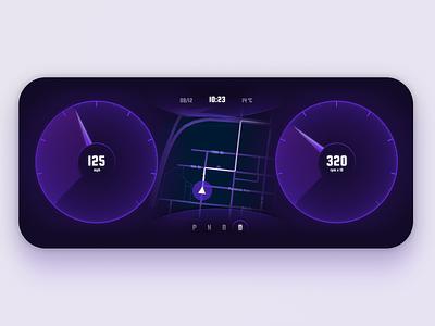 Automotive digital dashboard navigation electric car cockpit dashboard ui interface concept dark theme dashboard car automotive
