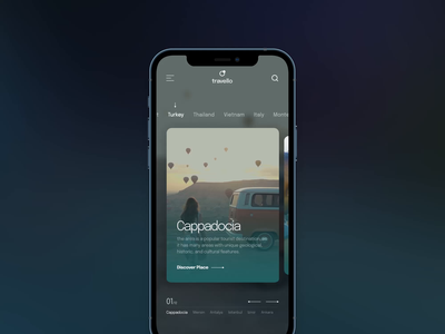 Travel Mobile App Animation concept ui ios adventure trips motion figma principle aftereffects ui animation animation travel app travel mobile app mobile