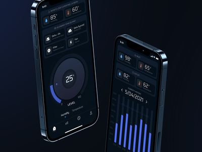 IoT Mobile application iphone temperature humidity iot design ios mobile app app design app ui
