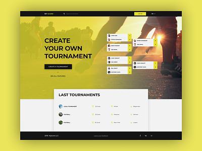 MyScore - Main Page main page web ui competition rank sport website tournament