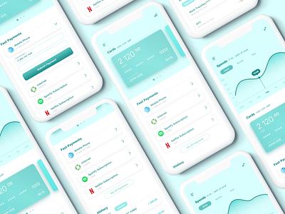 Mobile Bank App Concept finance app finance application mobile bank app design bank app bank ios mobile app app