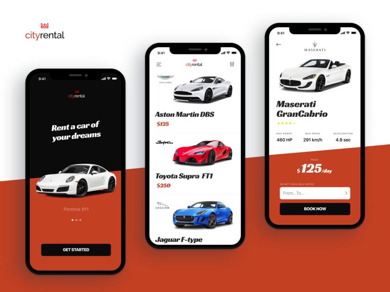 Car Rental Mobile App by Kirill Zhukovsky on Dribbble