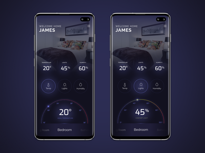 Smart Home App app design ui smart home dashboard visual interface application user interface design mobile app ux an exquisite beast dark ui android smarthome app