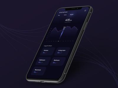 SmartHome App - Statistics Screen