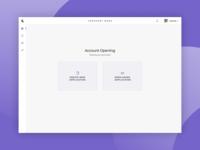 Bank Account | Opening Screen