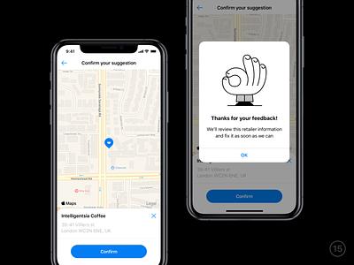Improve retailer location location map illustration adobe illustrator cc sketch ios app banking mobile ux ui