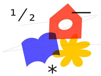 Random shape 001E color shape vector adobe illustrator illustration