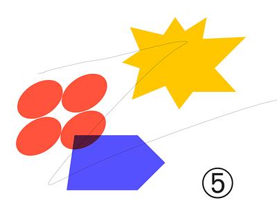 Random shape 005P expression design random color sketch ui vector adobe illustrator illustration