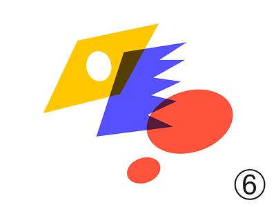 Random shape 006Q yellow red blue concept ui sketch adobe illustrator overlay color shape image illustration